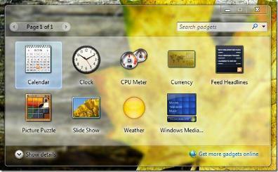 ใส่ Gadgets ให้กับ Windows 7