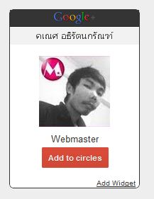  Google Plus  Google Plus Profile Widget   Circle 