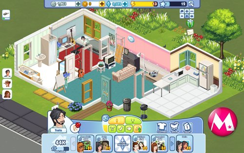 Display  The Sims Social    