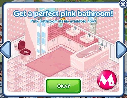 The Sims Social ตอนที่ 16 อัพเดทไอเทมใหม่ ห้องน้ำสีชมพู กับ ห้องครัวสไตล์ไม้