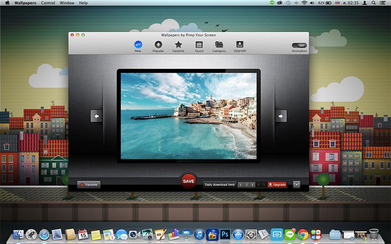 Pimp Your Screen โปรแกรมรวมวอลเปเปอร์สวยๆ สำหรับ mac
