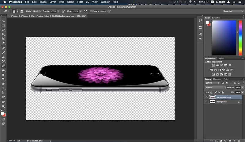 วิธีลบภาพพื้นหลังด้วยโปรแกรม Photoshop CC