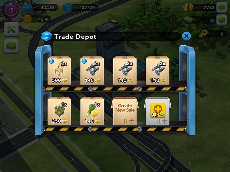 SimCity Buildit  วิธีเปิดร้านขายของ