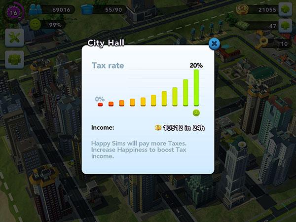 SimCity Buildit แนวทางการเก็บรายได้จากภาษี ให้ได้เต็มเม็ดเต็มหน่วย