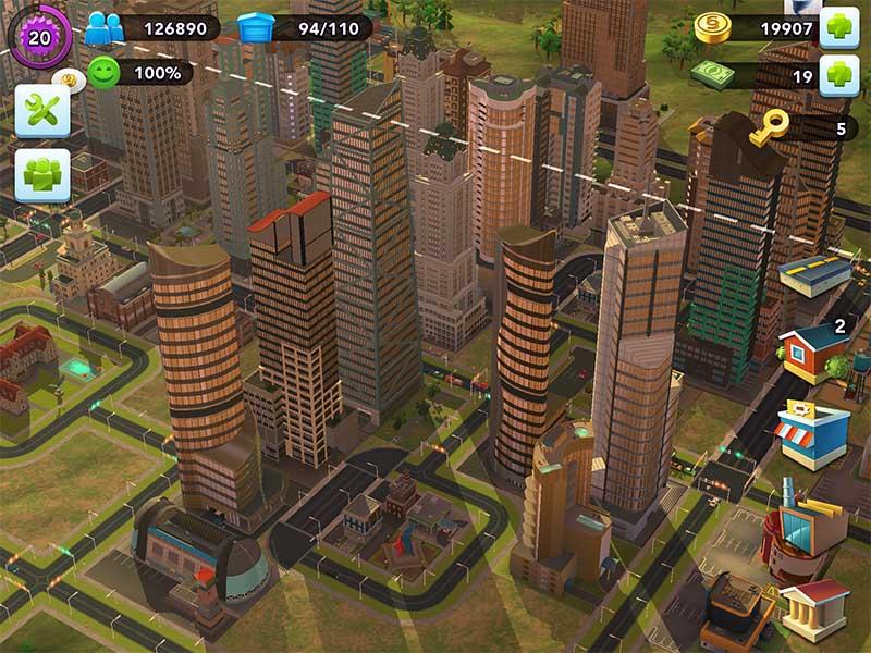 วิธีสร้างตึกสูงสมัยใหม่ ในเกม SimCity Buildit