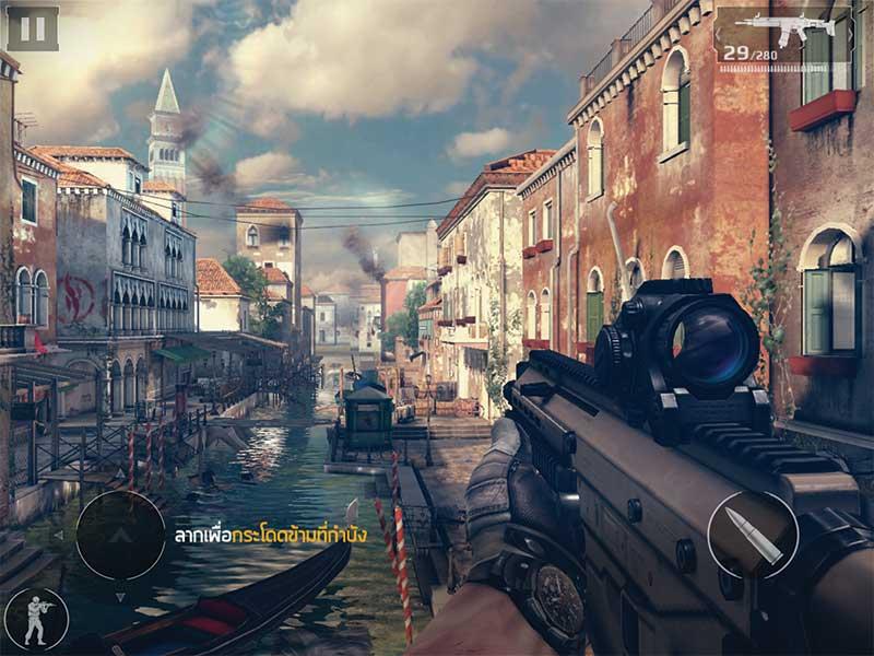 รีวิว Modern Combat 5 เกมแนว FPS ที่ดีที่สุดบนมือถือ