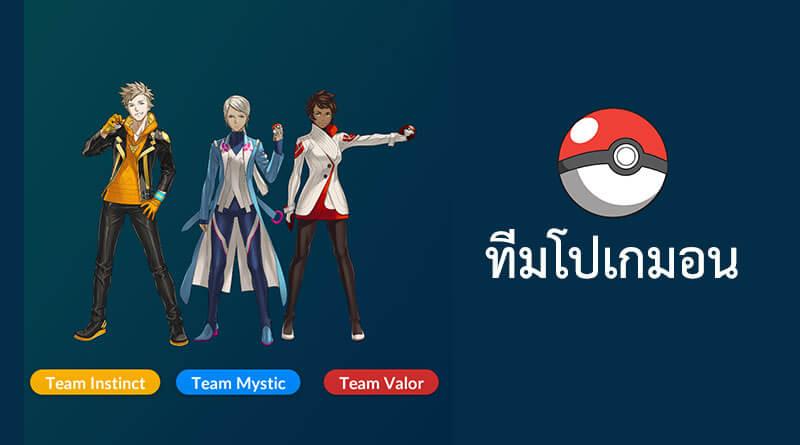 วิธีเข้าร่วมทีมในเกม Pokemon Go